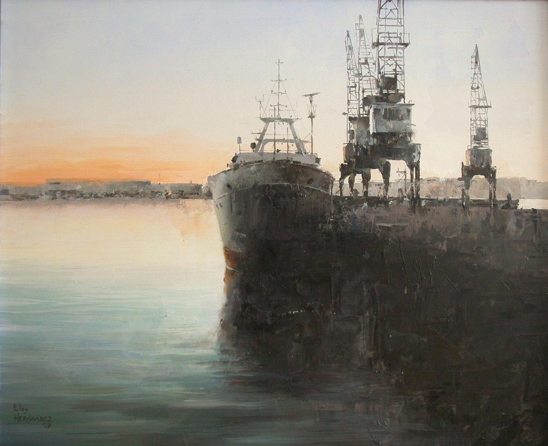 Barco con Grúas (Vendido)