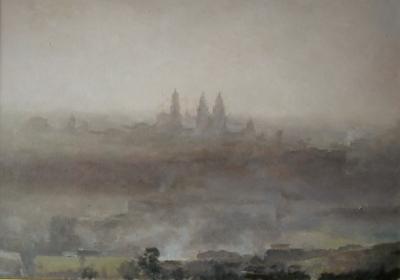 Santiago en la Niebla (Vendido)